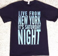 ADULT S/XS(see info) SATURDAY NIGHT LIVE T-SHIRT Live From New York Its Snl NAVY #Jerzees #GraphicTee