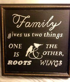 Family quote wedding chalkboard DIY