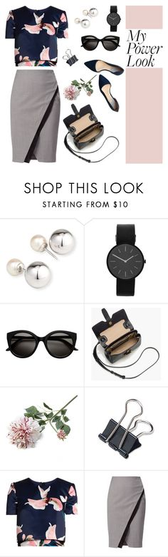 """""""My Power Look"""" by lysianna ❤ liked on Polyvore featuring Yoko London, Uniform Wares, J.Crew, Crate and Barrel, Erdem, WtR, Cole Haan and MyPowerLook"""