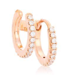 MARIA TASH Diamond Eternity Ring and Cuff 18kt rose gold single earring. #mariatash # #DiamondEternityRings