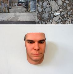 New York artist Heather Dewey-Hagborg collects DNA samples from discarded gum, fingernails and cigarette butts off the streets and uses a computer program to analyze the sample and create a model of what the person may look like. The program then sends the image to a 3D printer which constructs a sculpture of that person.
