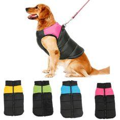 Large Pet Dog Clothes Big Dog Vest Warm Autumn/Winter Clothing For Large Dog Winter Jacket Coat Soft 10 Sizes Dog Products #Affiliate