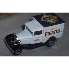 Pittsburgh Pirates 1990 MLB Diecast Ford Model A Truck 1/64 Scale Baseball Team Collectible Matchbox White Rose by MLB  $20.39