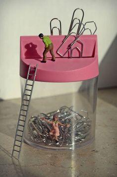 A surreal miniature world