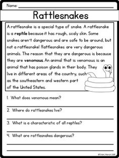 Reading Comprehension Passages and Questions (Nonfiction)