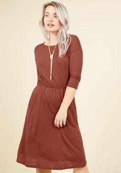 Set the Staple Knit Dress in Ginger