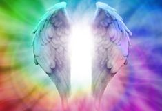 DesignArt 'Angel Wings on Rainbow Background' 3 Piece Graphic Art on Wrapped Canvas Set Rainbow Background, Background S, Angel Wings Drawing, Abstract Metal Wall Art, Doreen Virtue, Buy Paintings, Original Paintings, Stock Foto, Digital Image