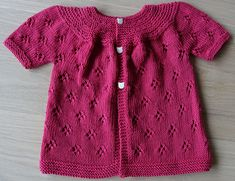 Craft Passions: . Girl's cardigan..# free #knitting pattern link ...