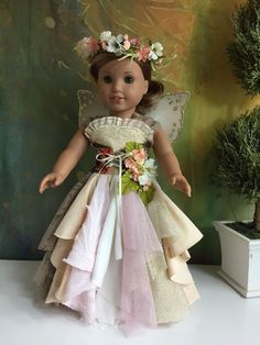 Custom OOAK Rose Gold Woodland Fairy Outfit Made For American Girl | eBay