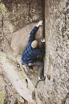 legit rock climbing.