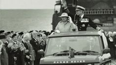 The Queen in a Range Rover Classic