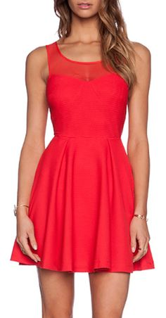 hot red tie back dress