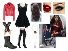 """""""Scarlet witch: the avengers"""" by cocoh1-1 ❤ liked on Polyvore featuring Bootights, Valentino, Wanderlust Life, Quiksilver and Charlotte Tilbury"""