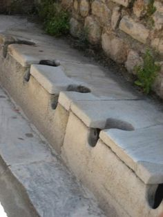 Kusadasi, Turkey: Ancient potties made of marble.