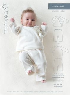 Naaipatroon baby omslag shirt en broekje voor kleine baasjes en bazinnetjes van 0 tot 9 maanden.