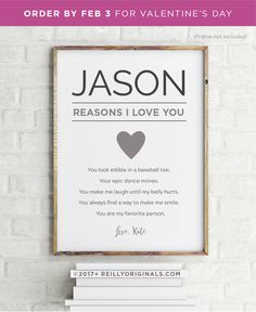 6b8265cffc79 Personalized Valentine s Day Birthday Gift Boyfriend Husband Wedding Son  Friend Printable Card Cute Reasons I Love You Favorite Guy Fiance