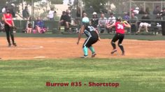 Emily Burrow: Shortstop Fielding Ball & Throwing Out Vs Power Surge. Fas...