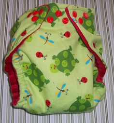 AIO or Regular One Size Cloth Diaper-Turtles n Lady Bugs  by Los Chiquitos by loschiquitos on Etsy