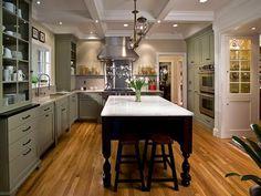 White Open Kitchen Corner With Glossy Burnt Tile Flooring : Designers' Portfolio : HGTV - Home & Garden Television