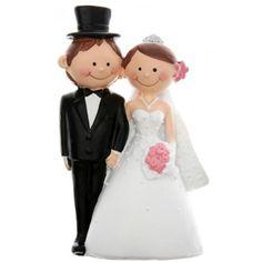 figurine mariage mr mrs 10 cm - Figurine Mariage Mixte