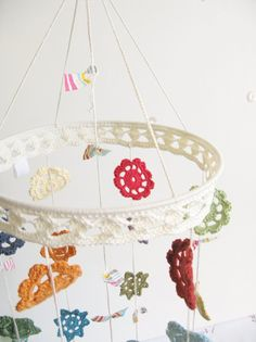 Crocheted mobile #crochet