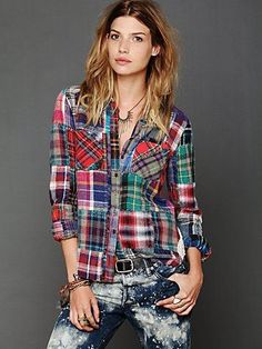 This patchwork flannel...
