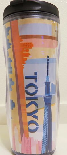 While my husband was on his business trip in Tokyo last month, he bought this tumbler, which is only available in Tokyo, Japan. Tumblers, Starbucks, Tokyo, Water Bottle, Husband, Japan, Mugs, Coffee, City