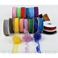 "Quinceanera Mall - 7/8"" Organza Pull Ribbon - #RIB29"