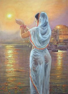 Ganga Pooja 3 Painting by Vishalandra Dakur Sexy Painting, Woman Painting, Indian Drawing, India Art, Indian Art Paintings, Erotic Art, Beautiful Paintings, Female Art, Folk Art
