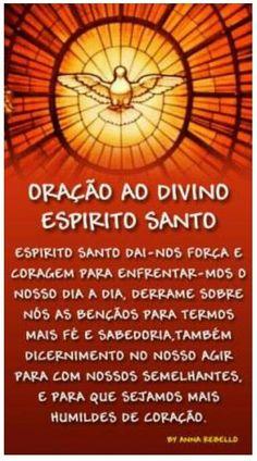 Oração ao Divino Espírito Santo.