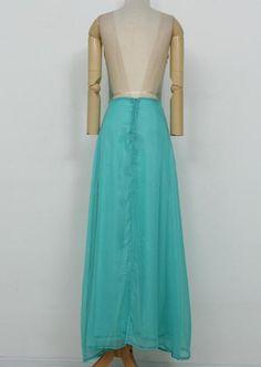 Deep V-Neck Slim Waist Full-Length Dress - Oh Yours Fashion - 5