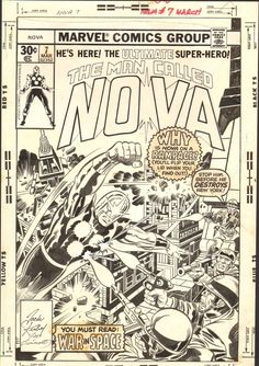 The cover to NOVA #7 by Jack Kirby and Joe Sinnott.