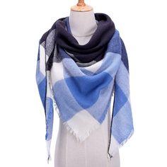 2019 new winter women scarf soft thick neck rings fashion plaid cashmere shawls wraps lady pashmina bandana blanket foulard Tartan, Pashmina Wrap, Hijab Style, Plaid Fashion, Fashion Scarves, Style Fashion, Wrap Sweater, Scarf Wrap, Warm Bodies