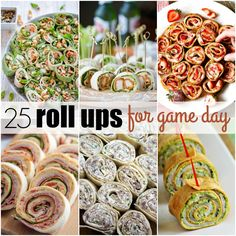 These 25 Roll Ups for Game Day are sure to inspire your football party menu and make your crowd go wild!