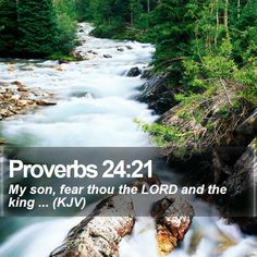 Proverbs 24:21 My son, fear thou the LORD and the king ... (KJV)  #Truth #Salvation #Inspirational #Nature #Gracious #ChristCentered #CreationOfGod http://www.bible-sms.com/