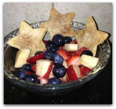 4th of July Fruit Salad & Star Chips