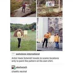 I love this bc he can have fun painting something relaxing and enjoy the scenery