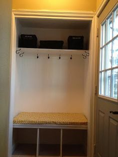 Carr Life: Back entry closet to Beautiful Mudroom!