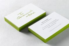 Greenwich Hotel NYC - business cards with colored-edging