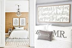 The area above your bed is a great blank slate for some fun art, but it can be so hard to decide what to put there! Here are 12 great ideas for DIY projects, prints, and more that you can use to decorate above your bed!
