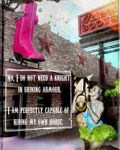 Art Print, Cowgirl, Austin, Austin Art, Texas, Texas, Horse, Horse Art, Inspirational, Motivational, Sassy, Collage Art, Digital Art, Gift, by AndreaMDesigns on Etsy Horse Horse, Horse Art, Horses, Digital Collage, Digital Art, Fun Prints, Poster Prints, Sassy, Texas