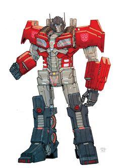 Cybertronian Optimus by FPC, Frederic Pham Chuong Gundam, King Crown Tattoo, Optimus Prime Toy, Sci Fi Wallpaper, Big Robots, Iron Man Suit, Look Man, Transformers Optimus Prime, Super Robot