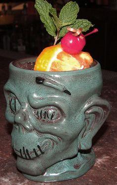 Shrunken Zombie Head Mug from Trader Sam's Enchanted Tiki Bar at the Disneyland Hotel