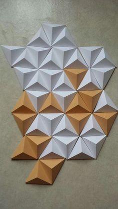 Wall Cladding Tiles, 3d Wall Tiles, 3d Wall Art, Origami Wall Art, Origami Paper Art, Paper Crafts, Decorative Wall Panels, 3d Wall Panels, Corporate Interior Design