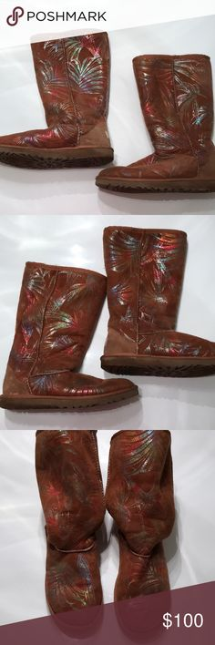 Ugg Australia tall fancy chestnut firework boots RARE Ugg Australia Tall fancy chestnut fireworks  Gently used - please see photos for minor signs of wear  Kids size 6 - I purchased and wore them myself and I'm a women's size 8 UGG Shoes Boots
