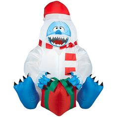 Christmas Rudolph Reindeer Bumble Snowman Present 3 ft Airblown Inflatable | eBay gemmy
