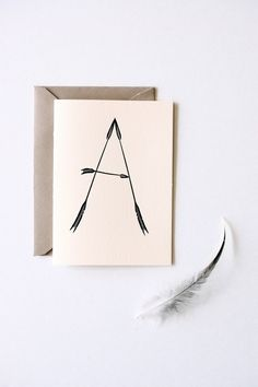Arrow Caps  Set of 6 Letterpress Note Cards by inhauspress on Etsy, $18.00