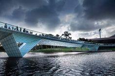 Riverbank Precinct Pedestrian Bridge by Taylor Cullity Lethlean (TCL)