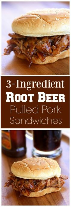 3-Ingredient Root Beer Pulled Pork - great for feeding a crowd…