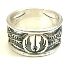 Star Wars Ring - Sterling Silver - Jedi Symbol and Death Star